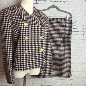 PENDLETON Skirt Suit Jacket Petite 14 Plaid
